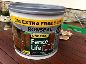12 litres Ronseal ONE COAT fence Life