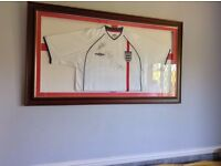 Signed England Football Shirt (Framed)