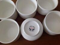 White sugar bowls