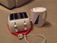 Kettle and Russel Hobbs toaster