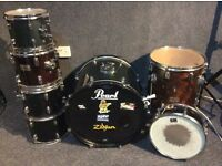 Pearl & CB Mixed Drum Set