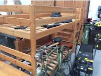 Pine bunk bed frames : Free Glasgow delivery
