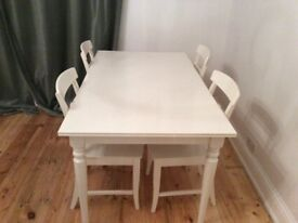 INGATORP Ikea extendable dining table and chairs