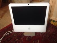 Apple iMac screen 17 inches. White and silver coloured. Priced to sell fast.