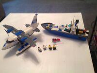 2 x Lego police sets (boat & plane)