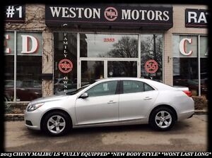 2013 Chevrolet Malibu LS *FULLY EQUIPPED *NEW BODY STYLE *WONT L