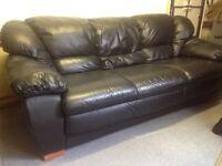 Sofa Black leather.