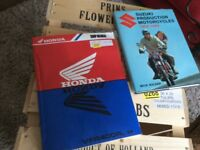Motorcycle books x2 Honda and Suzuki