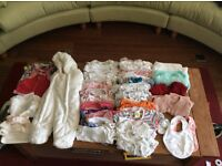 Bundle of baby clothes, 0-1 month, girl