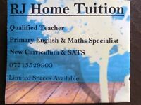 KS1 & KS2 tuition. English, maths, science, comprehension and phonics. SAT's booster.