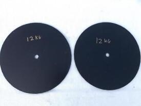 2 x 12kg Hand Made Standard Cast Iron Weights