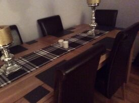Stunning Oak Furniturland Drop-Leaf Dining Table & Chairs