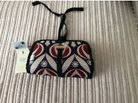 Ted Baker make up bag with 3 brushes
