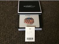 """Auth Anya hindmarch """"BOOM"""" leather sticker brand new in box"""