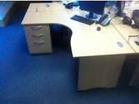 Fixed Pedestal Corner desk in Great condition.