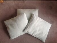THREE DUCK EGG CUSHIONS FROM NEXT