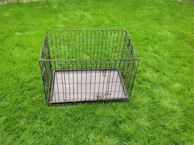 Wire dog cage. Up to medium size dogs