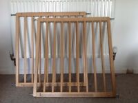 BabyDan Wooden Stair Gates X 2 with all fixings, great condition