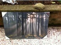 BRAND NEW - WOODLAND SCENE, TRIPTYCH OVER 3 CANVASES, still in packaging