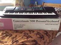 Concertmate 980 Personal Keyboard and stand.