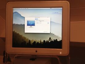 "Apple Studio Display 17"" model M7649 + DVI-ADC converter + DVI-mini display converter."