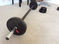 Barbell with plates