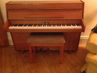 Zender compact upright piano. Excellent condition