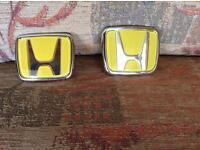 Pair of Honda car badges- not used