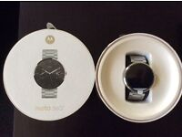 Brand New Moto 360 Smartwatch Stainless Steel
