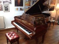 Bechstein Model D Grand Piano, 1911, restored. Property of a concert piano tuner technician.