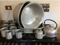Aluminium Cooking Utensils, pots, cooking pans, kettles, jugs etc.