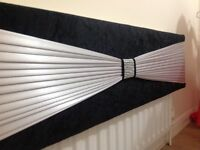 Black /silver across 7 1/2 ft £65 and silver/ black across 8 ft