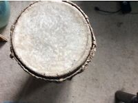 African wooden drum in need of some renovation hence price