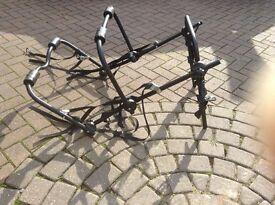 Car boot bike rack