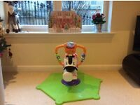 Like new - Fisher Price Go baby Go Bounce and Spin Zebra