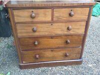 Edwardian chest of draws.....108cms X 52 cms X 102 cms