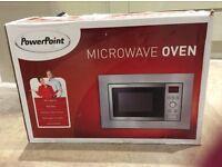 Unused built-in 800W PowerPointj microwave, measured incorrectly.