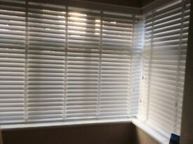 White wooden blinds NEW