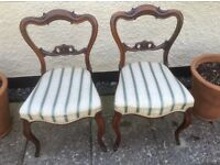 Two Antique/Victorian chairs