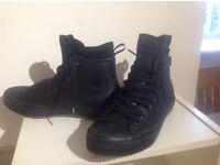 Converse CFAS ll Hi Black weatherproof Boots Size 8
