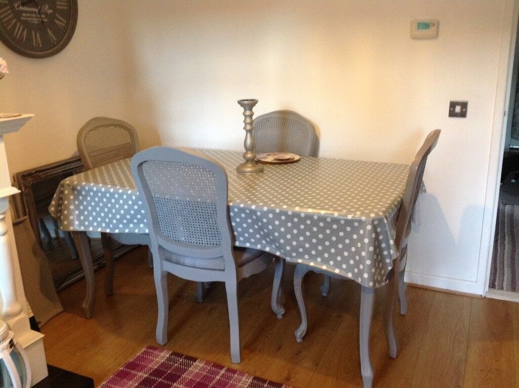 Laura Ashley French Shabby Chic Style Dining Table And 4 Chairs