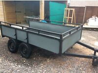 Heavy Duty Trailer, needs finishing, 9x5 load bed Twin Axle First £200 it's yours Sorry No Offers
