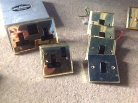 Brass switches and sockets