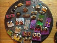 Job lot of Earrings and Broaches