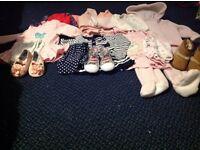 9-12.months baby girl bundle dresses, leggings shoes 1 Coat other bits