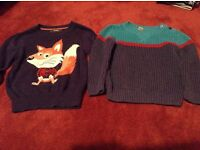 Two boys' jumpers for 2-3 years