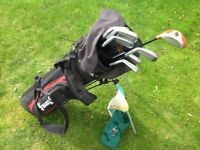 Golf clubs with bag suitable for Child/Teenager