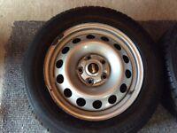 Four Mini Country Man tyres & rims