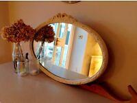 Pretty Shabby Chic Beige Mirror