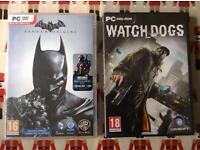 Watch Dogs and Batman Arkham Origins PC games brand new